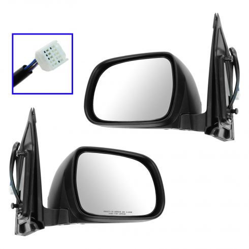 2004-06 Toyota Sienna Mirror Power Heated Pair
