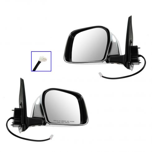 2001-04 Toyota Tacoma Mirror Power Pair Chrome