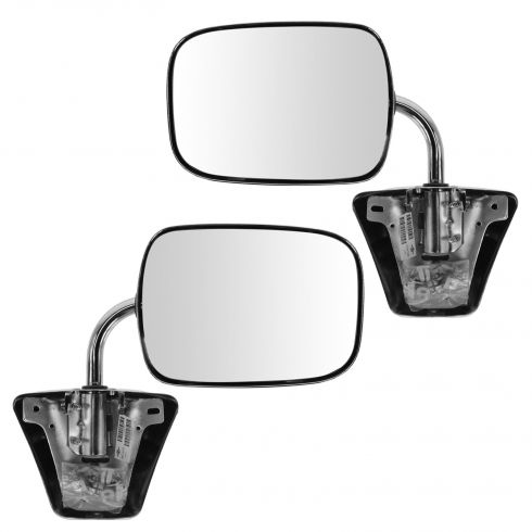 Mirror MANUAL CHROME (with 3 Bolt Mount) PAIR