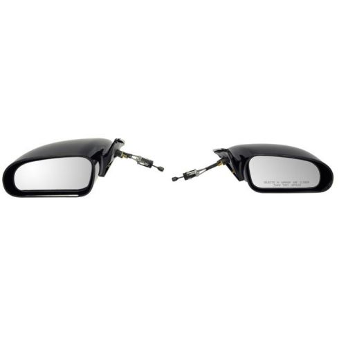 1995-00 Chrysler Sebring Coupe, Dodge Avenger Cable Rem Non Fldg Mirror PAIR
