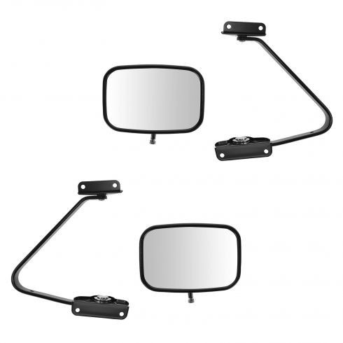 80-96 Bronco Manual Swing lock Black Mirror PAIR