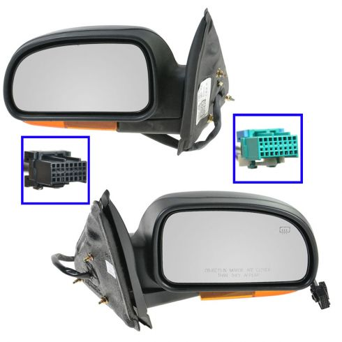 Mirror POWER HEATED Manual Folding with AMBER TURN SIGNAL & TEXTURED FINISH PAIR