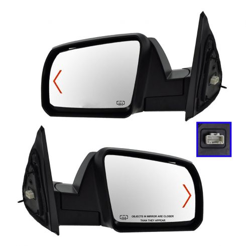 Mirror POWER HEATED with TURN SIGNAL and Chrome Cap PAIR