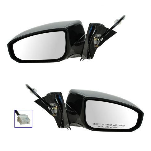 04-08 Nissan Maxima Power Heated Manual Folding Mirror PAIR