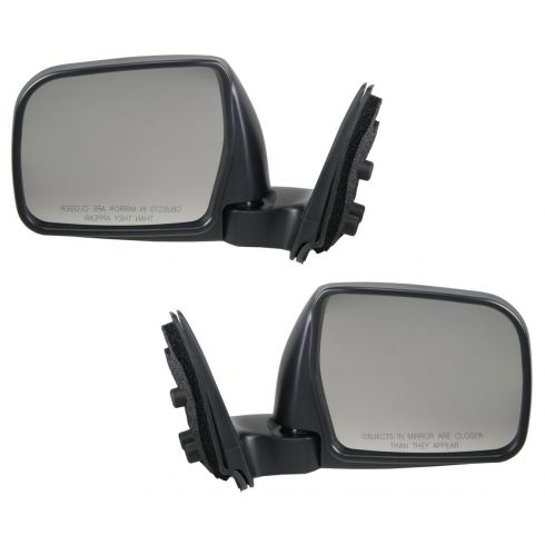 96-98 Toyota T100 Mirror Manual Folding W/Chrome Cover Pair