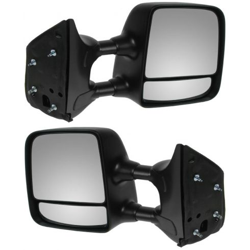 2004-10 Nissan Titan XE Manual Chrme Cap Tow Mirror PAIR