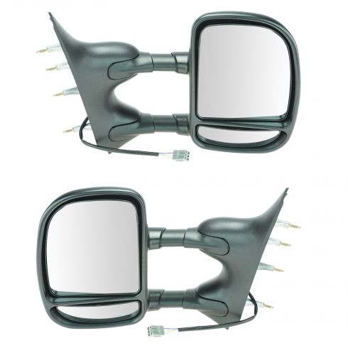 2009-11 Ford Van Pwr Dual Arm Tow Mirror PAIR