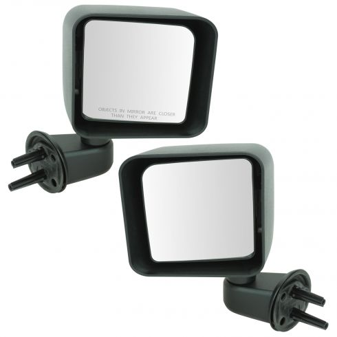 2007-10 Jeep Wrangler Manual Mirror PAIR