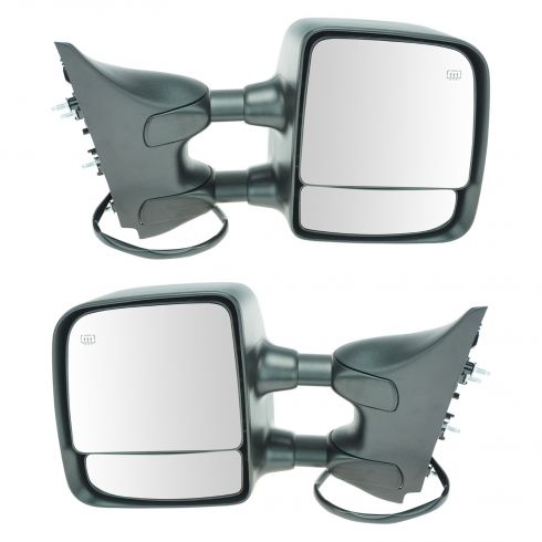2004-10 Nissan Titan SE & Pro-4X Pwr Htd Chrm Cap Tow Mirror PAIR