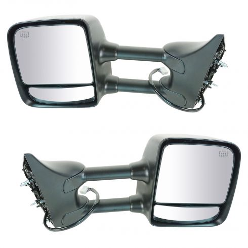 2004-10 Nissan Titan LE Pwr Htd Mem Chrome Cap Tow Mirror PAIR