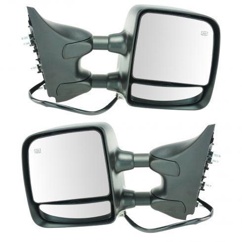 2008-10 Nissan Titan Pro-4X Pwr Htd Mem Txt Cap Tow Mirror PAIR