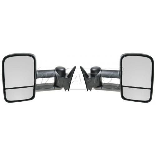 88-00 Chevy C/K PU SUV Suburban Manual Towing Mirror Pair (Upgrade)