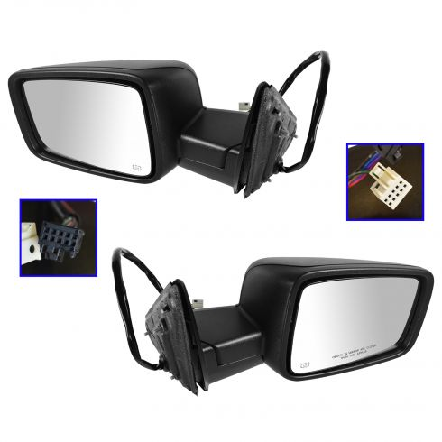 2009-11 Dodge Ram 1500; 2010-11 2500 3500 Power Heated Turn Signal Textured Mirror PAIR