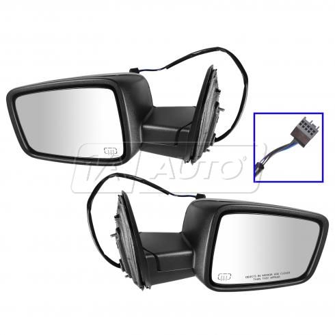 2009-11 Dodge Ram 1500; 2010-11 2500 3500 Power Heated Textured Mirror PAIR