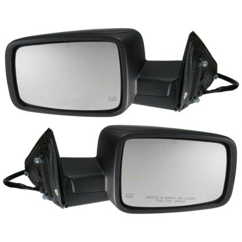 2009-11 Dodge Ram 1500; 2010-11 2500 3500 Power Heated Turn Signal Gloss BLk Mirror PAIR