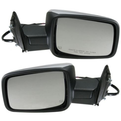 2009-11 Dodge Ram 1500; 2010-11 2500 3500 Power Heated Turn Signal Memory Chrome Mirror PAIR