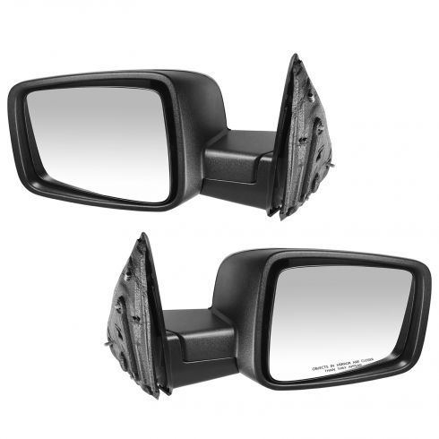 2009-11 Dodge Ram 1500; 2010-11 2500 3500 Manual Textured Mirror PAIR