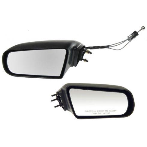 88-94 Cavalier, Sunbird w/3 Mtg Studs blk Manual Mirror PAIR