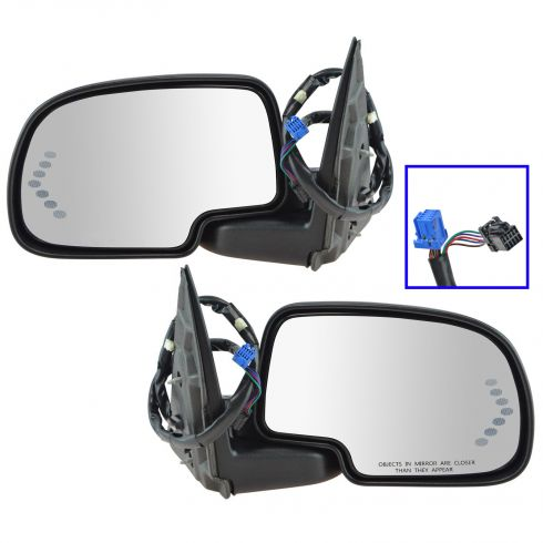 03-07 GM PU SUV Pwr Folding Htd Memory Puddle Light Turn Signal Auto Dim Mirror PAIR