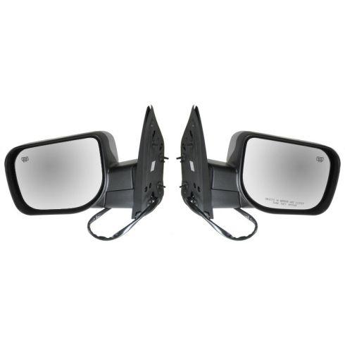 04-06 Nissan Titan Armada; 04-05 QX56 Pwr Htd Mem Pud Lamp Chrme Cover Mirror PAIR