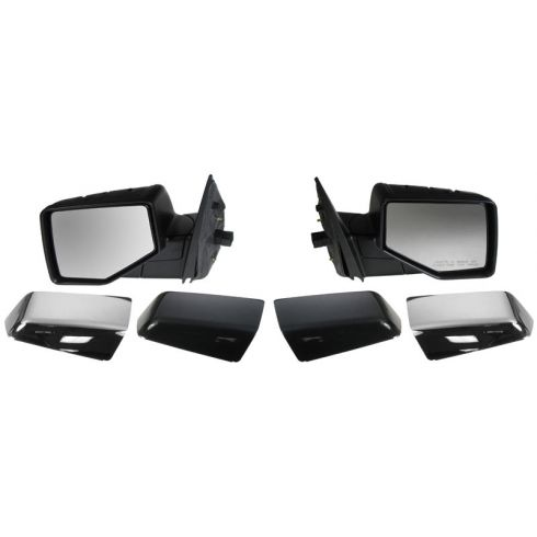 06-10 Ford Explorer; 07-10 Sport Trac Pwr Puddle Light Mirror (Chrme & PTM Caps) PAIR