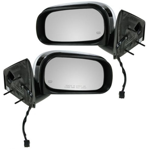 07-09 Chrysler Aspen (GTS Code) Folding Heated Power Black/Chrome Mirror PAIR