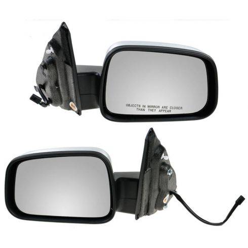 06-11 Chevy HHR Black w/Chrome Cover Power Mirror PAIR