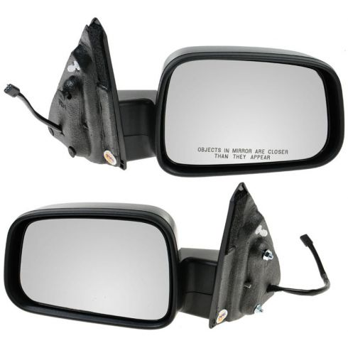 06-11 Chevy HHR Black w/Smooth Black Cover Power Mirror PAIR
