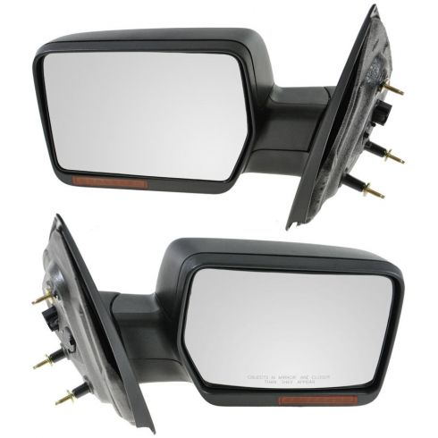 2007-08 Ford F150 Power Heated w/Turn Signal Textured Mirror PAIR