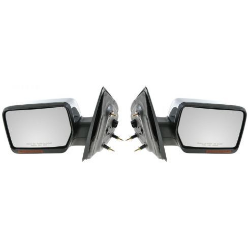 2007-08 Ford F150, Lincoln Mark LT Power Heated w/Turn Signal & Chrome Cover Mirror PAIR