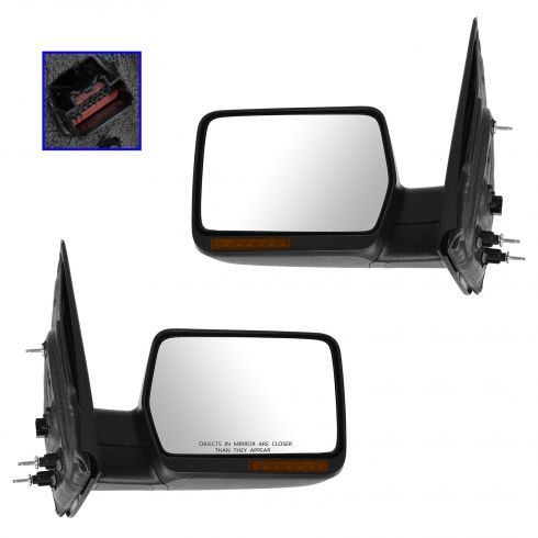 2004-06 Ford F150 Power Heated w/Turn Signal Textured Mirror PAIR