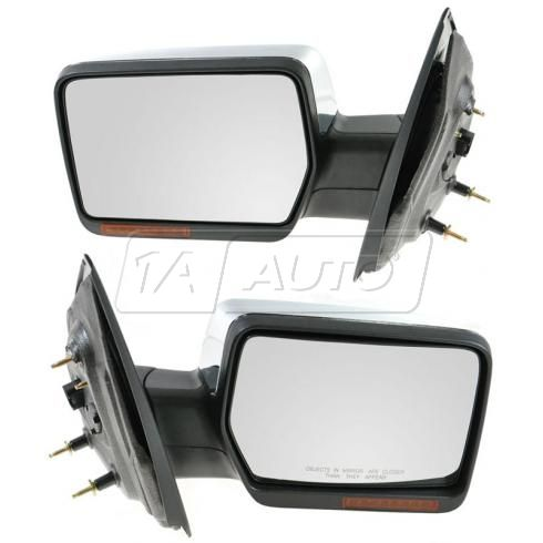 2004-06 Ford F150; 06 Lincoln Mark LT Power Heated w/Turn Signal & Chrome Cover Mirror PAIR