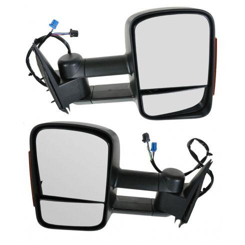 03-07 Sierra, Silverado; 03-06 FS SUV Pwr Htd w/Memory LED TS Tele Textured Mirror PAIR