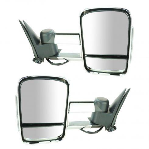 03-07 Sierra, Silverado; 03-06 FS SUV Pwr Htd w/Memory LED TS Tele Chrome Cap Mirror PAIR