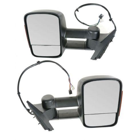 07-10 Sierra, Silverado; 07-10 FS SUV Pwr Htd w/Memory LED TS Tele Textured Mirror PAIR