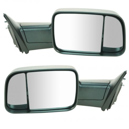 09-11 Dodge Ram 1500 (exc Mega Cab); 10-11 Dodge 2500 3500 Manual Textured Mirror PAIR (UPGRADE)