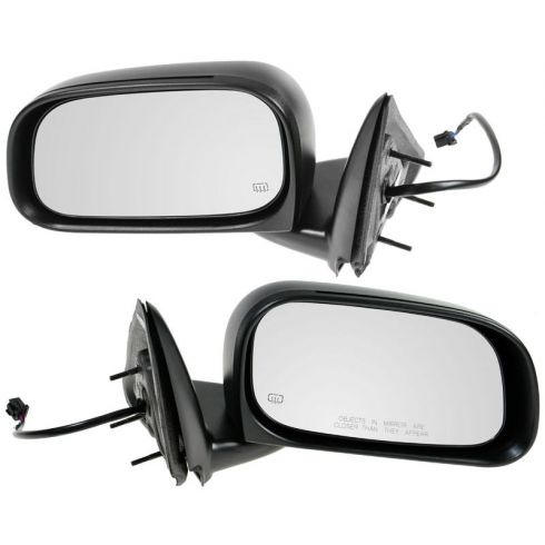 2005-11 Dodge Dakota; 06-08 Mitsu Raider Power Heated Folding 6x9 Mirror PAIR