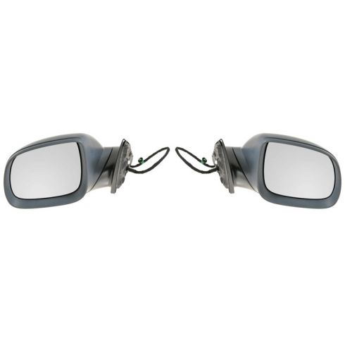 2008-10 VW Touareg Power Heated w/Turn Signal & Puddle Light Flat Black Cover Mirror PAIR