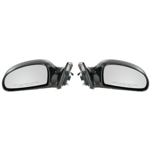 2004-09 Kia Spectra; 05-09 Spectra5 Power Heated Gloss Black Mirror PAIR