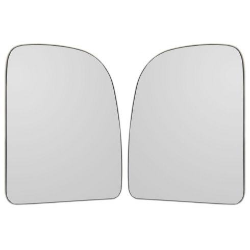 00-10 Ford F250-F550, E150-E550 Power w/o Heat, w/o Signal, w/Tow Pkg Upper Mirror Glass PAIR