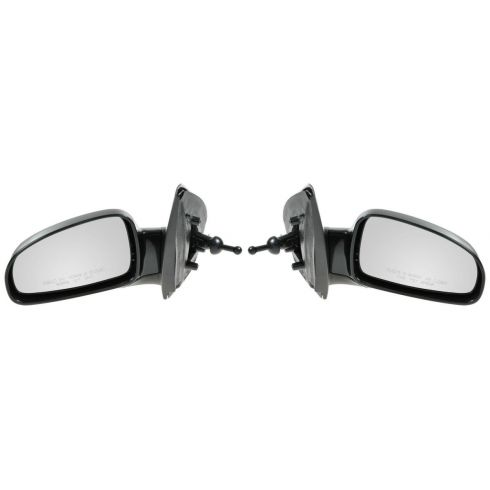 2004-08 Chevy Aveo, Suzuki Swift Manual Remote Mirror w/Black Housing PAIR