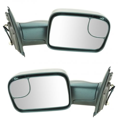 02-09 Dodge Ram 1500; 03-09 2500 3500 Manual TS Textured Tow (Perf Upgrade 2010 Look) Mirror PAIR