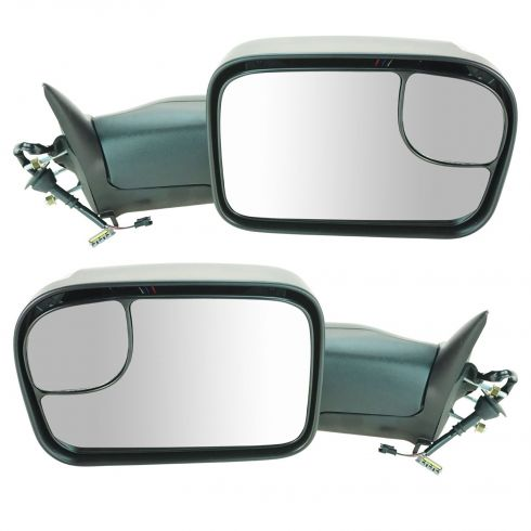 94-97 Dodge Ram 1500 2500 3500 Power TS Textured Tow (Perf Upgrade 2010 Look) Mirror PAIR