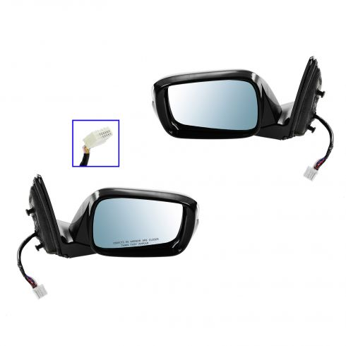 10-12 Acura MDX Power Heated w/Memory w/Turn Signal w/Blue Tint Glass PTM Mirror PAIR