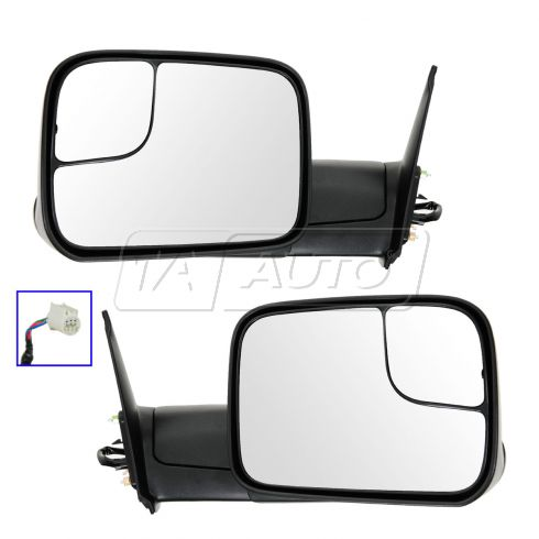 05-13 Toyota Tacoma Power Black Textured Tow Mirror (Upgrade) PAIR