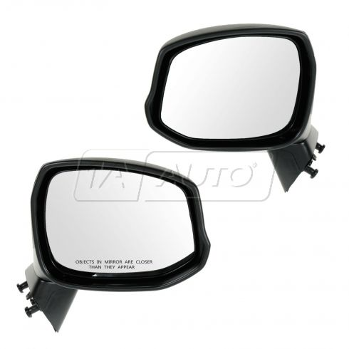 12 Honda Civic Manual Textured Black Folding Mirror PAIR