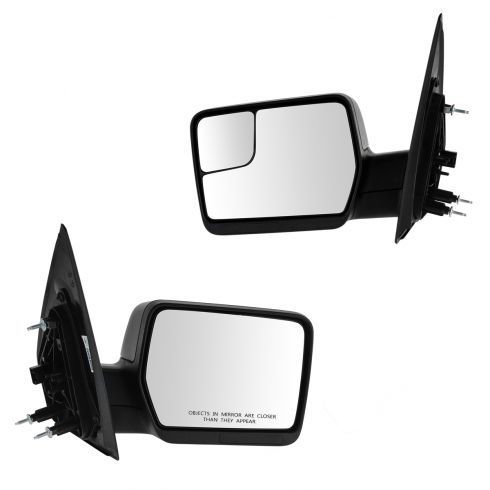 04-13 Ford F150 w/Amber Reflector, LH Integrated Convex Glass, Blk Txt Cap Power Mirror (Upgrade) PR