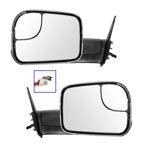 05-13 Toyota Tacoma Power, Heated (w/Smoked Turn Signal) Black w/Chrome CapTow Mirror (Upgrade) PAIR