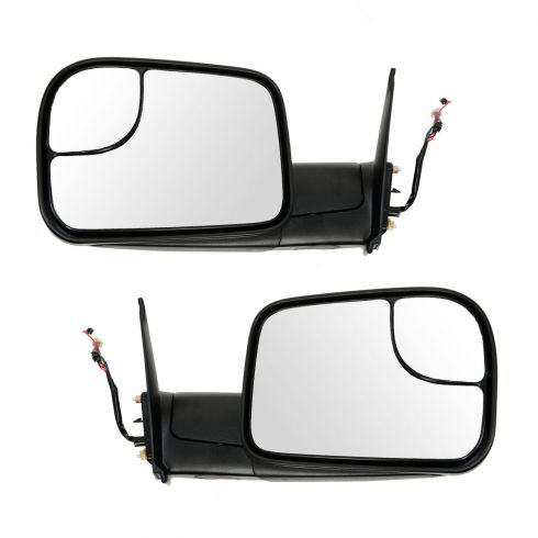 05-13 Toyota Tacoma Power, Heated (w/Smoked Turn Signal) Textured BlackTow Mirror (Upgrade) PAIR