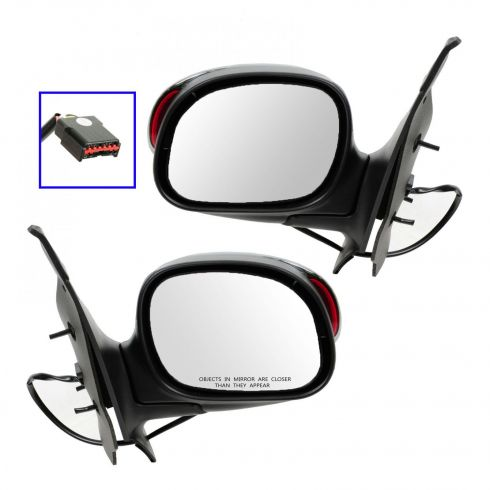 01 (from 1/23/01)-03 F150 Crew Cab Power (w/Exterior Signal) Chrome Cover Mirror PAIR